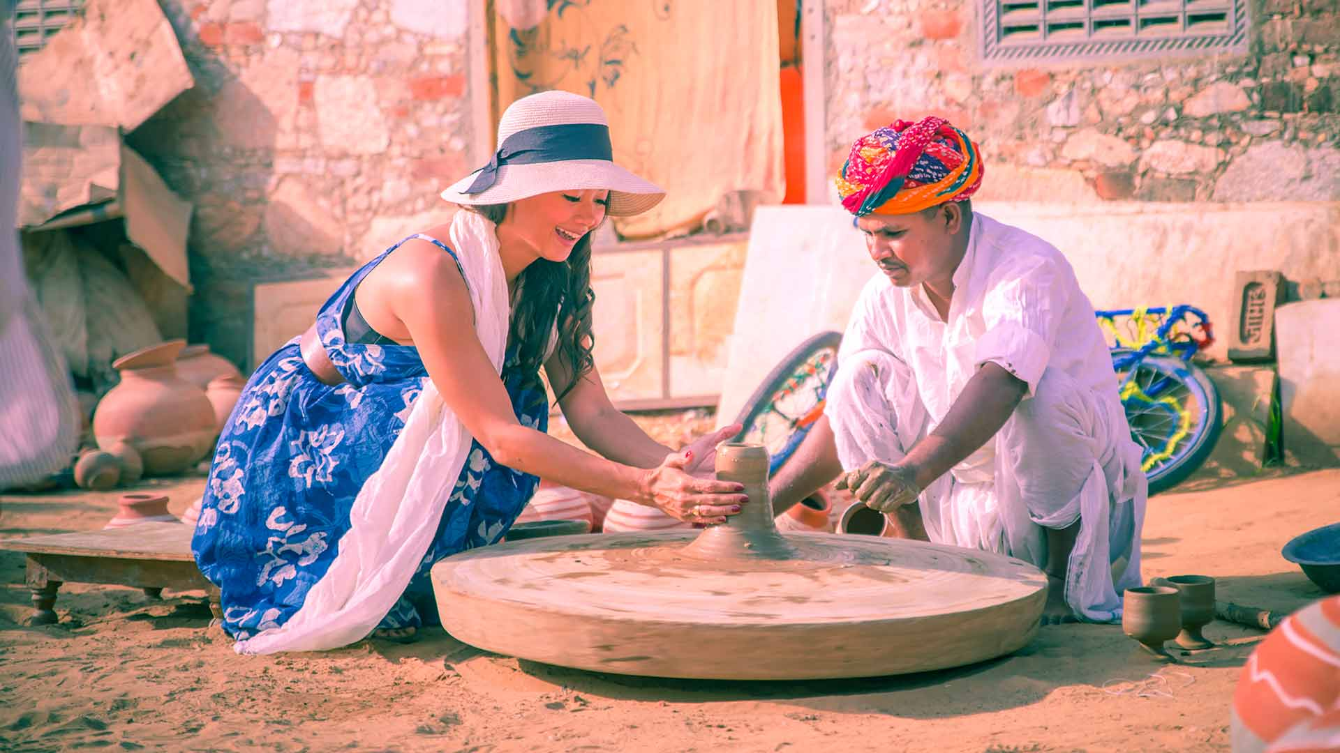 Pottery Experience at Alila Fort Bishagarh