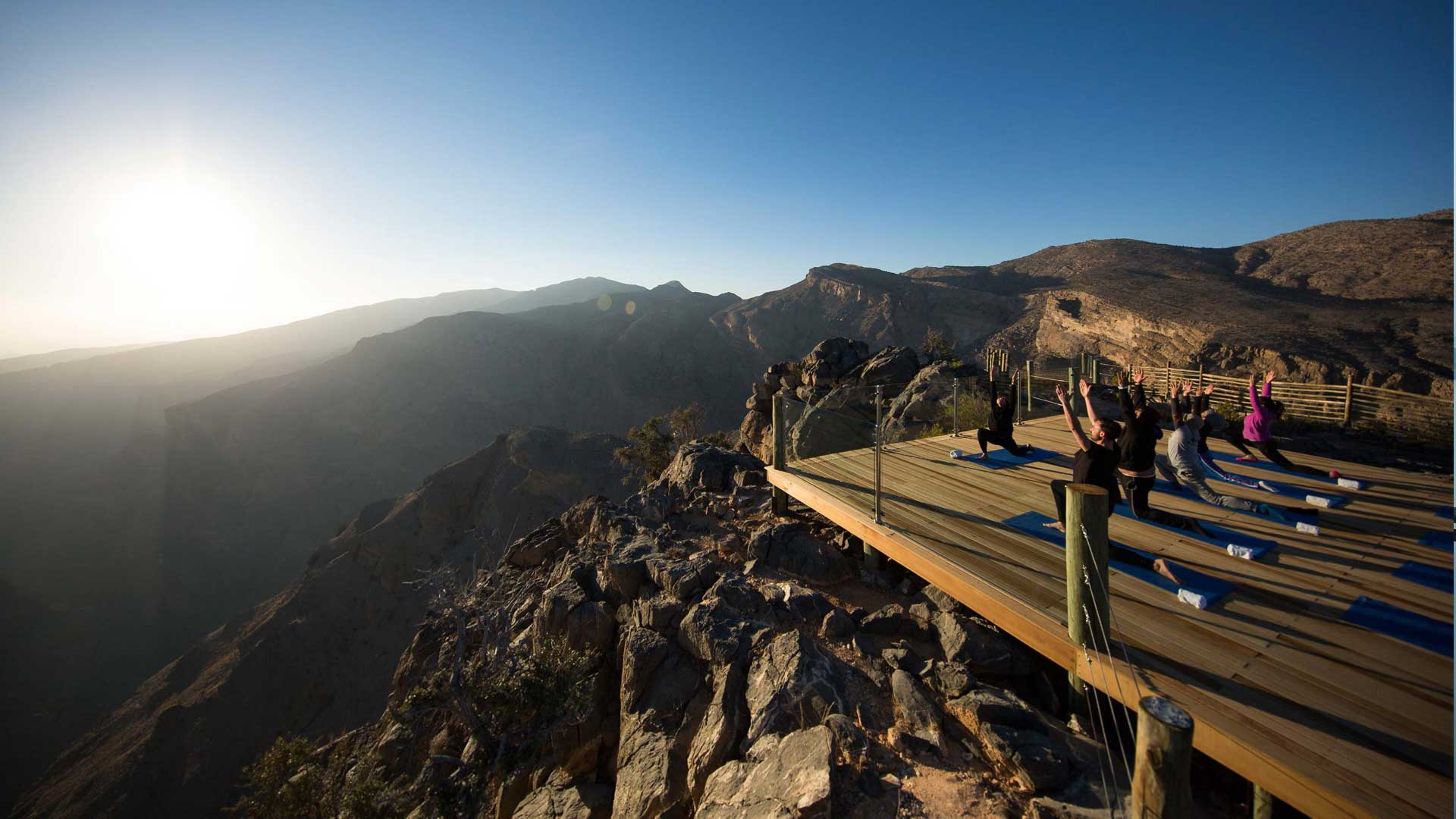 Alila Jabal Akhdar Yoga Deck at the Edge of the Gorge